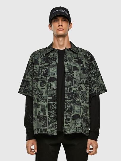 Diesel - S-ROHAD-B, Black/Green - Shirts - Image 4