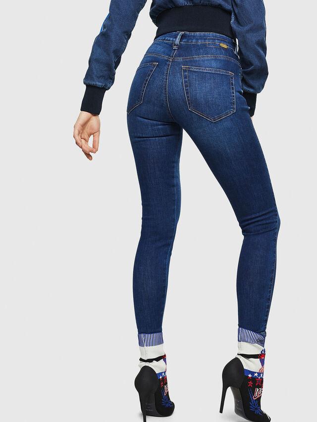 Diesel - Slandy High 089AJ, Dark Blue - Jeans - Image 2