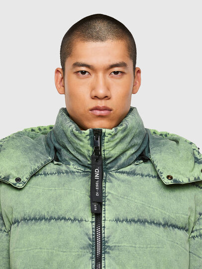 Diesel - W-EVACID, Green Fluo - Winter Jackets - Image 3