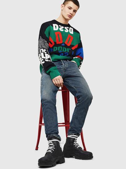 Diesel - K-RUBLO, Black/Green - Knitwear - Image 5