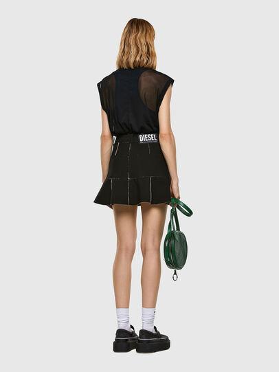 Diesel - O-BETH-B, Black - Skirts - Image 6