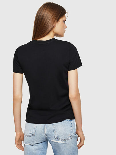 Diesel - T-SILY-DIVISION, Black - T-Shirts - Image 2