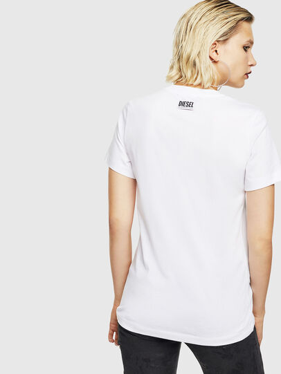 Diesel - T-SILY-YB, White - T-Shirts - Image 2