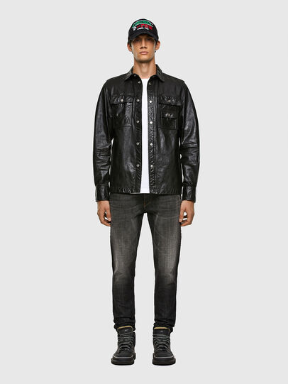 Diesel - L-MALIK, Black - Leather jackets - Image 5