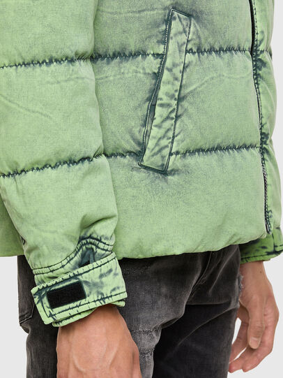 Diesel - W-EVACID, Green Fluo - Winter Jackets - Image 5