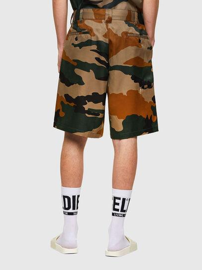 Diesel - P-BERTI-CAMU, Green/Brown - Shorts - Image 2