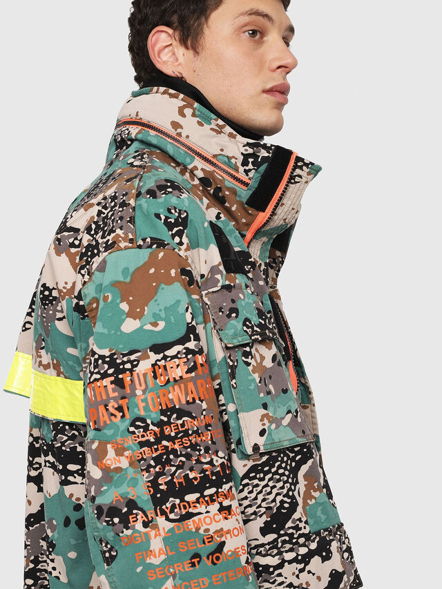 Diesel - J-TOUCHA-CAMOU, Green Camouflage - Jackets - Image 4