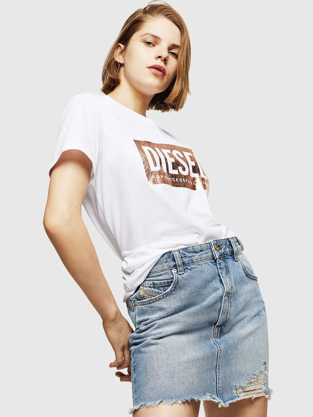 Diesel - T-FOIL, White - T-Shirts - Image 4