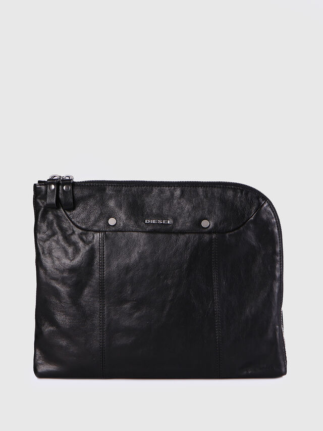Diesel - L-L4CLUTCH, Black Leather - Clutches - Image 1