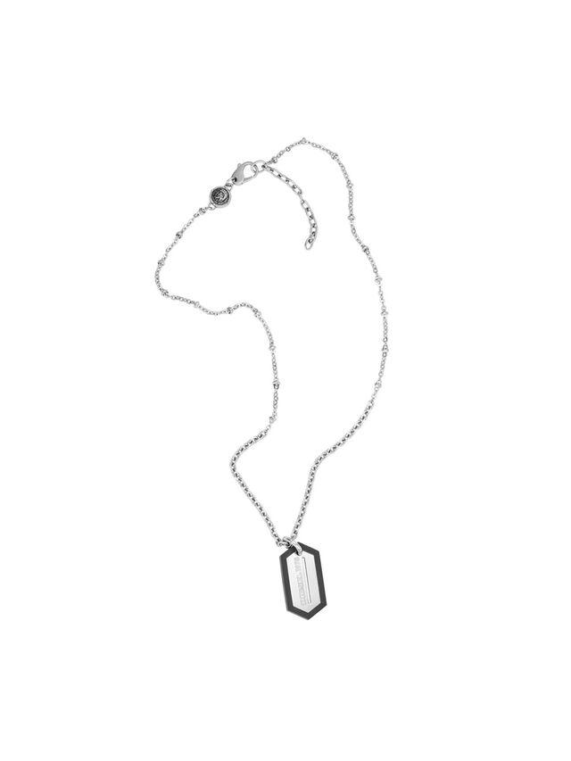 Diesel - NECKLACE DX0995, Silver - Necklaces - Image 1