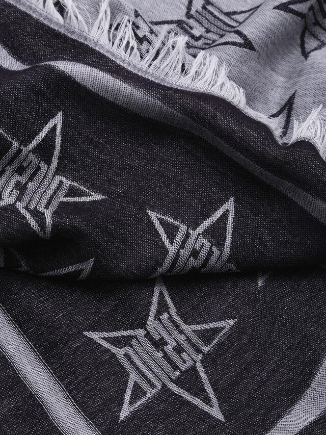 Diesel - S-STAR, Gray/Black - Scarf - Image 2
