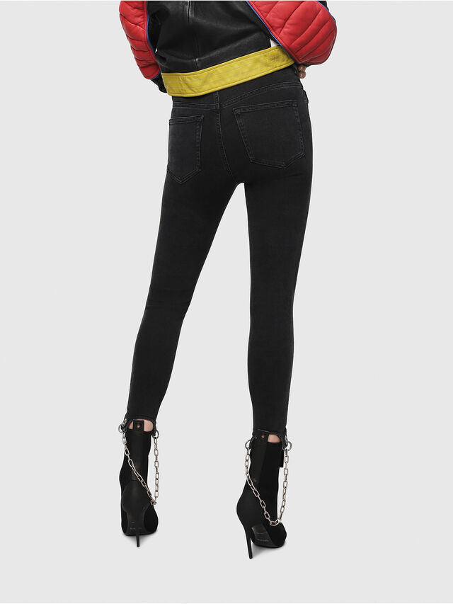 Diesel - Slandy High 081AM, Black/Dark grey - Jeans - Image 2