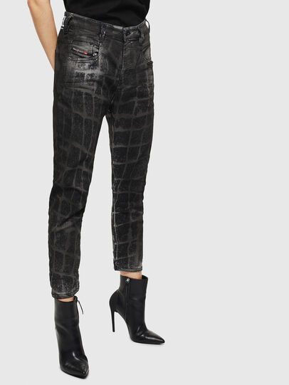 Diesel - Fayza JoggJeans 0094M, Black/Dark grey - Jeans - Image 6