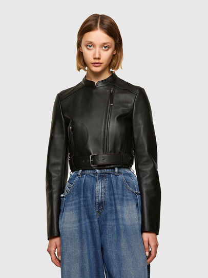 Diesel - L-MIMYY, Black - Leather jackets - Image 1