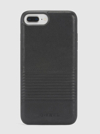 Diesel - BLACK LINED LEATHER IPHONE 8 PLUS/7 PLUS/6s PLUS/6 PLUS CASE, Black - Cases - Image 2