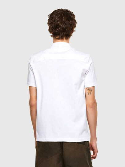 Diesel - T-ERPOLOCK, White - Polos - Image 2
