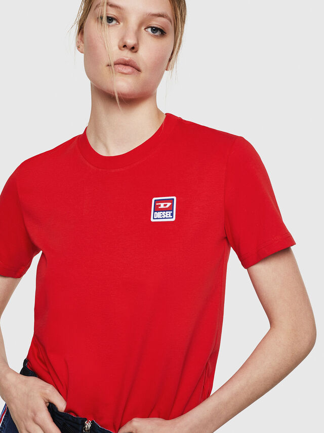 Diesel - T-SILY-ZE, Fire Red - T-Shirts - Image 3