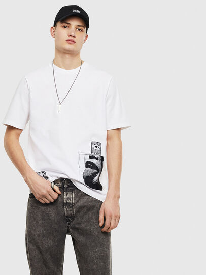 Diesel - T-JUST-T18, White - T-Shirts - Image 5